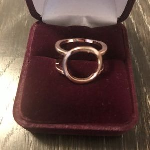 Jewelry - Free people Rose gold double band circle ring.